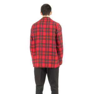 Bedwin & The Heartbreakers | 'Travis' 4B Wool Flannel Taylor Jacket Red