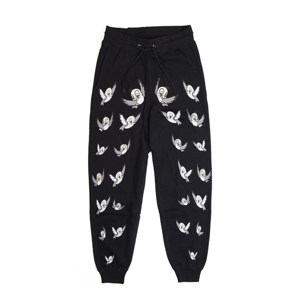 Bobby Abley 'Bobby Birds' Track Pants Black - Concrete