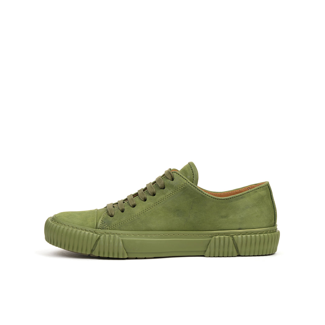 Both Lace Up Low-Top w. Graphic Foxing 54 Army Green
