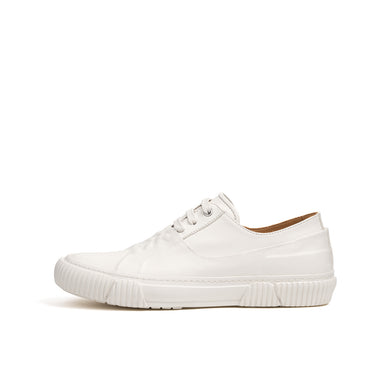 Both | Galosh Low-Top w. Graphic Foxing 10 White - Concrete