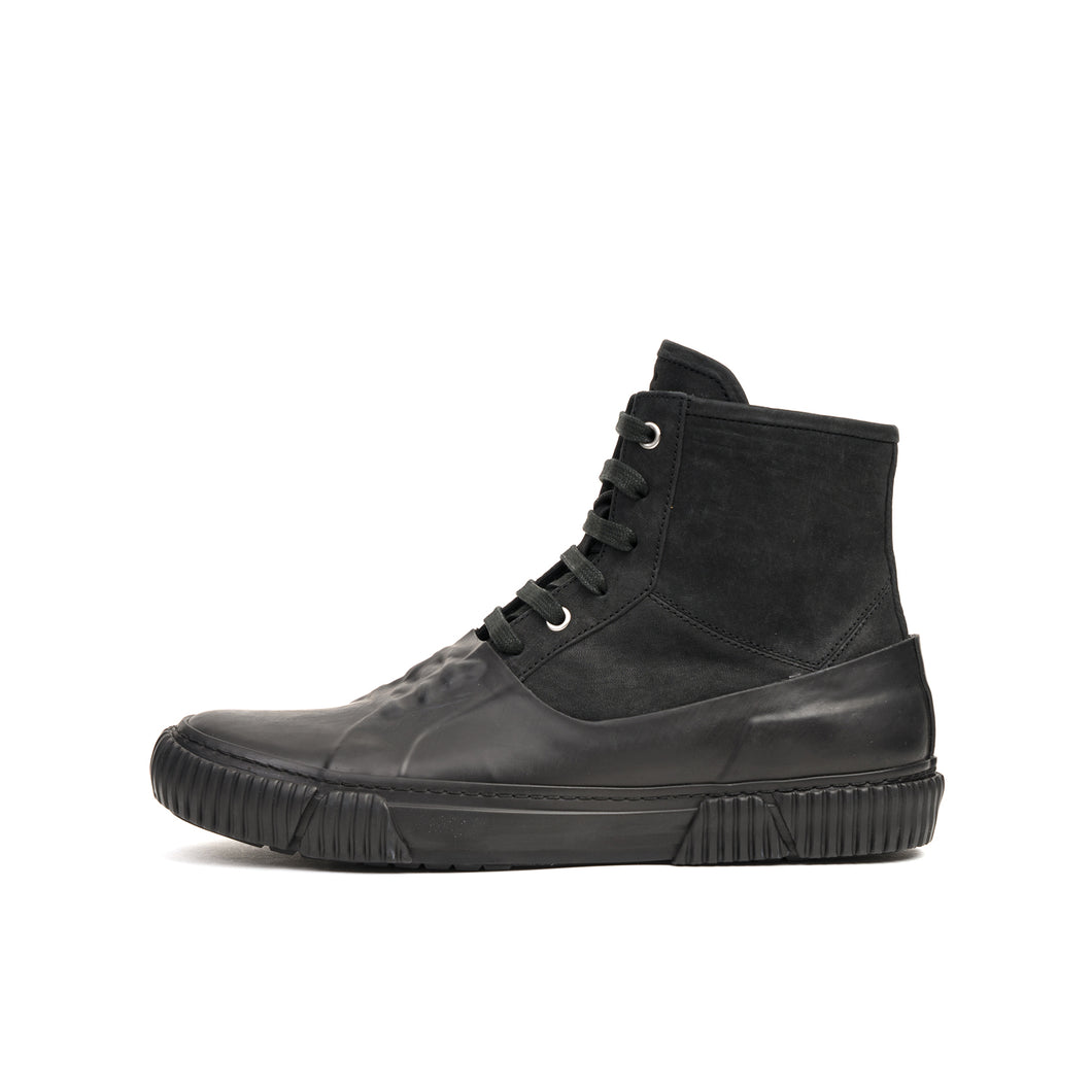 Both Galosh High-Top w. Graphic Foxing 90 Black