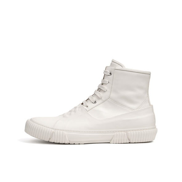 Both | Galosh High-Top w. Graphic Foxing 10 White - Concrete