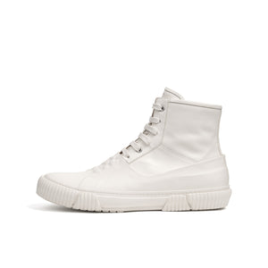 Both Galosh High-Top w. Graphic Foxing 10 White