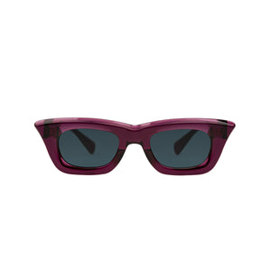 KUBORAUM | Sunglasses & Case C20 51-25 PR Teal - Concrete