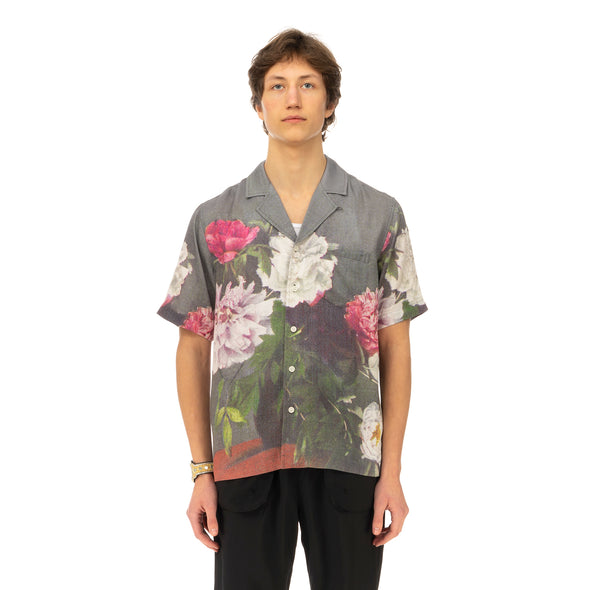 Soulland | Orson Shirt Green AOP - Concrete