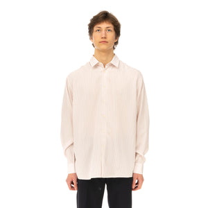 Soulland | Damon Shirt White / Red Stripes - Concrete