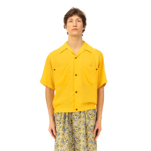 Haversack | Poplin Shirt 822008-10 Yellow - Concrete