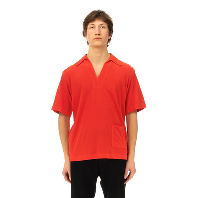 Haversack | Velour Polo Shirt 812003-18 Orange - Concrete