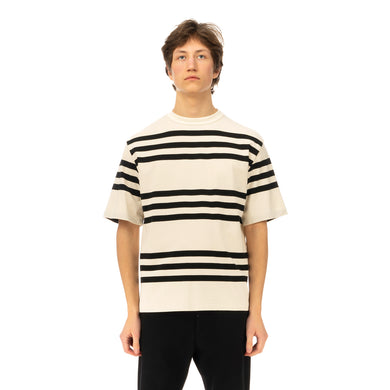Haversack | Stripe T-Shirt 812004-01 White - Concrete