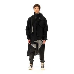 FACETASM | Bug Mountain Coat Black - Concrete