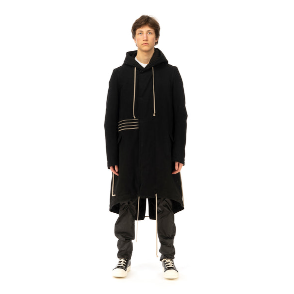 DRKSHDW by Rick Owens | Padded Fishtail Parka Black Denim