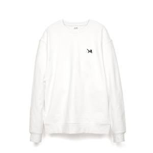 Calvin Klein Jeans Est. 1978 | Icon Embroidery Crewneck Bright White - Concrete