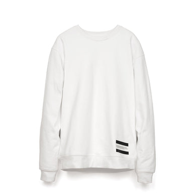Calvin Klein Jeans Est. 1978 | Small Patch Crewneck Bright White - Concrete