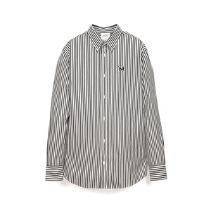Calvin Klein Jeans Est. 1978 | Icon Logo Stripe Poplin Shirt Bight White/ CK Black - Concrete