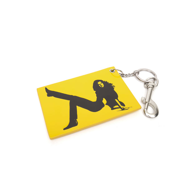 Calvin Klein Jeans Est. 1978 Icon Key Chain Lemon Yellow