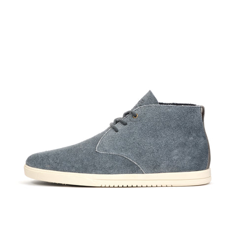 Clae Strayhorn Unlined Pavement Suede - Concrete