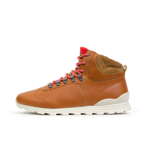 Clae Robinson Caramel Leather - Concrete