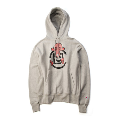 CLOT Eric Elms Long Nose Pullover Hoodie Heather Grey