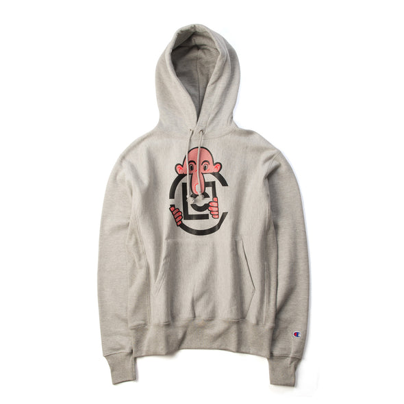 CLOT | x Eric Elms Long Nose Pullover Hoodie Heather Grey - Concrete