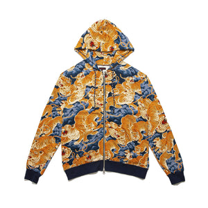 CLOT | Tiger Clouds Zip Up Hoodie Blue