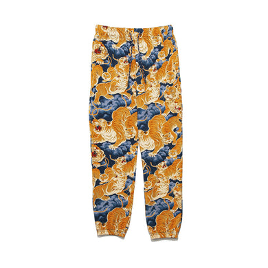 CLOT | Tiger Clouds Sweat Pants Blue - Concrete