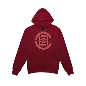 CLOT | Fifth Elemental Clot Logo Applique Hoodie Red - Concrete