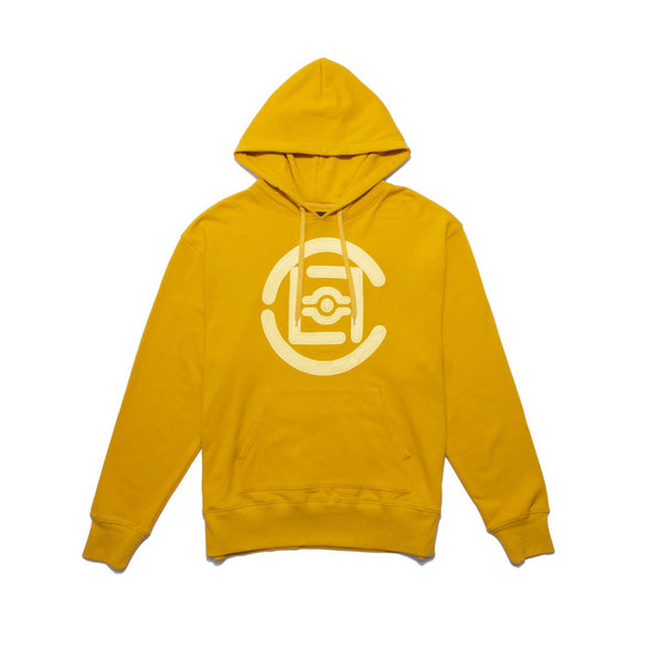 CLOT | Fifth Elemental Clot Logo Applique Hoodie Yellow - Concrete