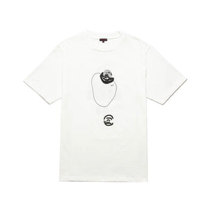 CLOT | Abstract Graphic T-Shirt 8 White - Concrete
