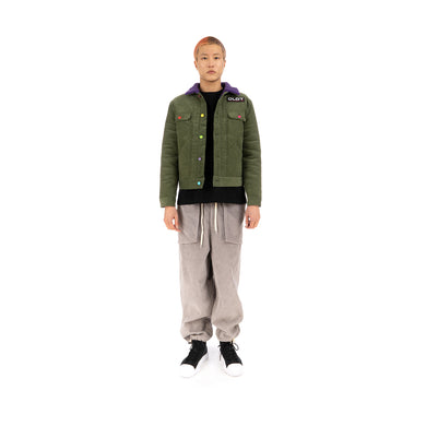 CLOT Fluffy Collar Corduroy Jacket Green