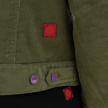 Load image into Gallery viewer, CLOT Fluffy Collar Corduroy Jacket Green