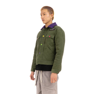CLOT | Fluffy Collar Corduroy Jacket Green - Concrete