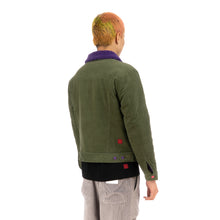 Load image into Gallery viewer, CLOT | Fluffy Collar Corduroy Jacket Green - Concrete