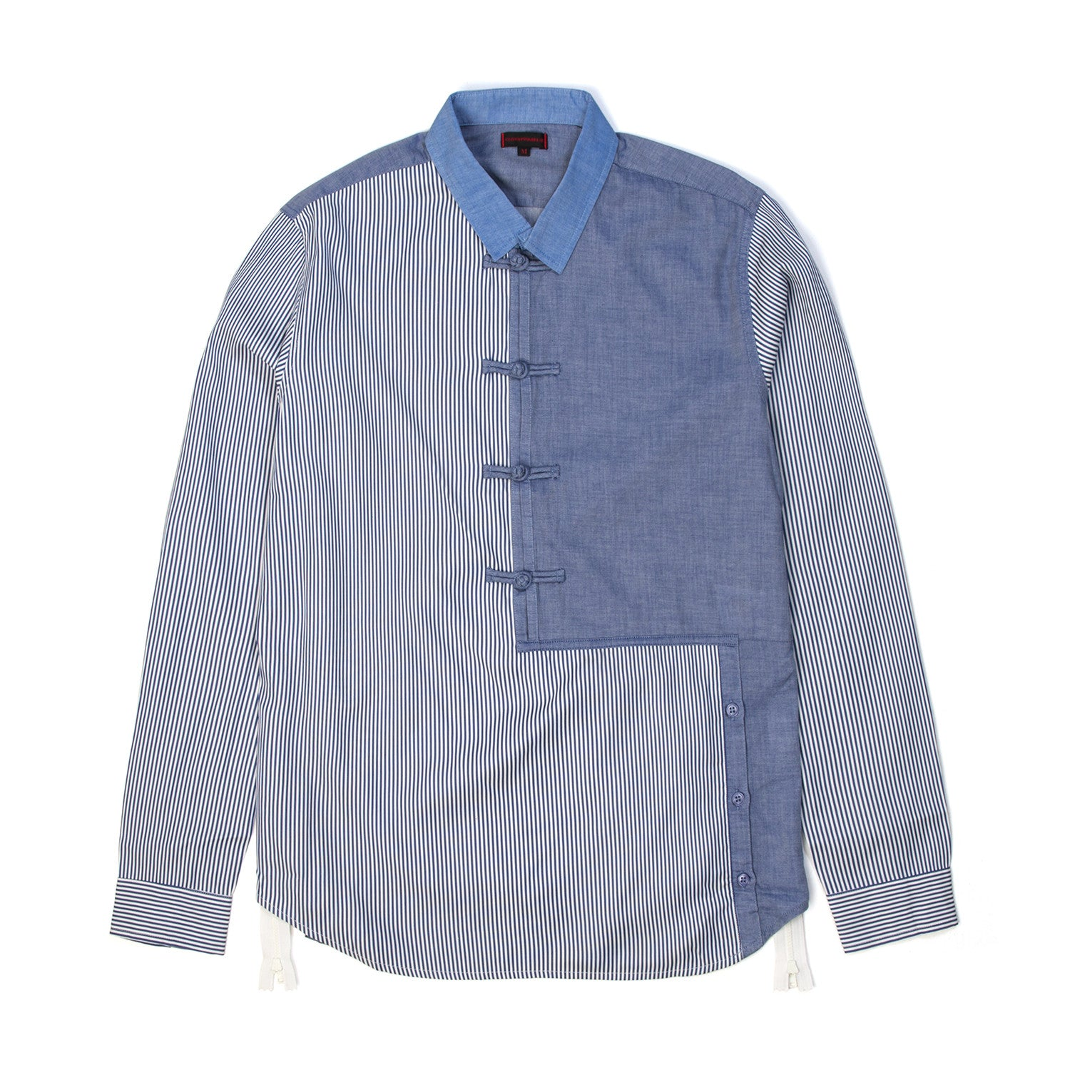 CLOT Mixed Chinese Button-Up Shirt Stripe