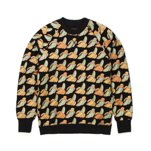 CLOT Sk8thing Allover Banana Crewneck Sweat Black