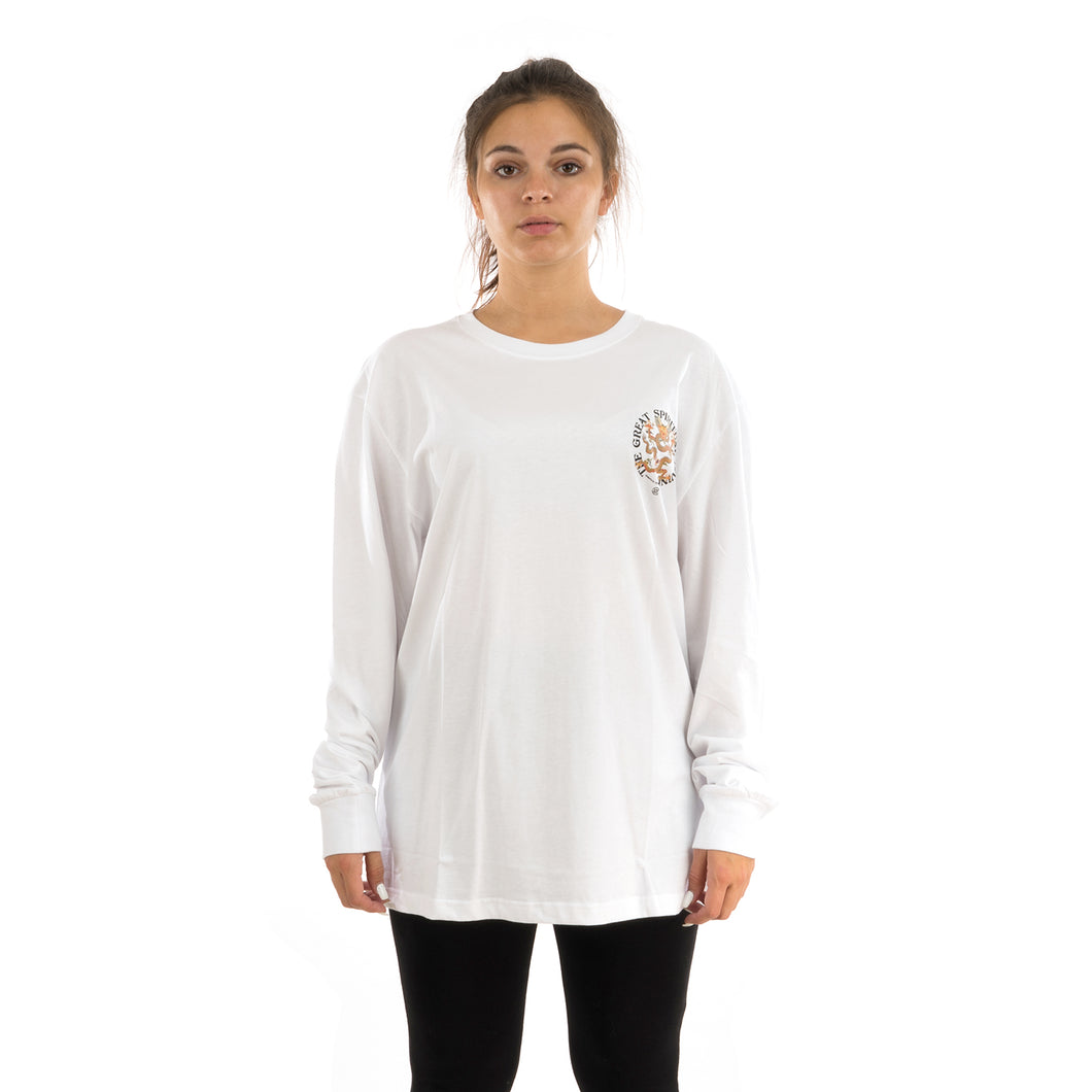 CLOT | Spiritual Dragon L/S T-Shirt White - Concrete