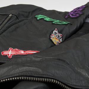 Ground Zero | Patches Leather Jacket Black - Concrete