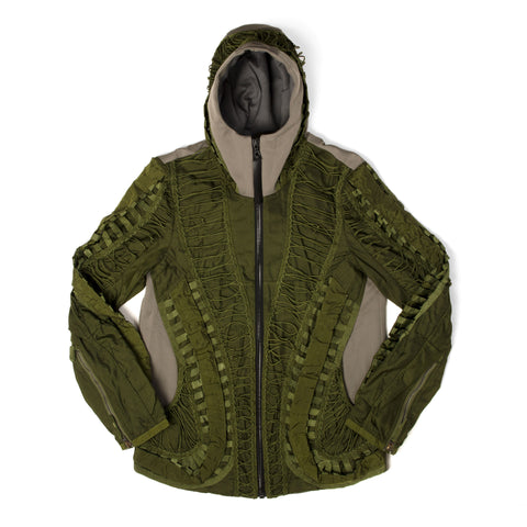 Christopher Raeburn Men's Remade MIG Hooded Jacket Olive - Concrete