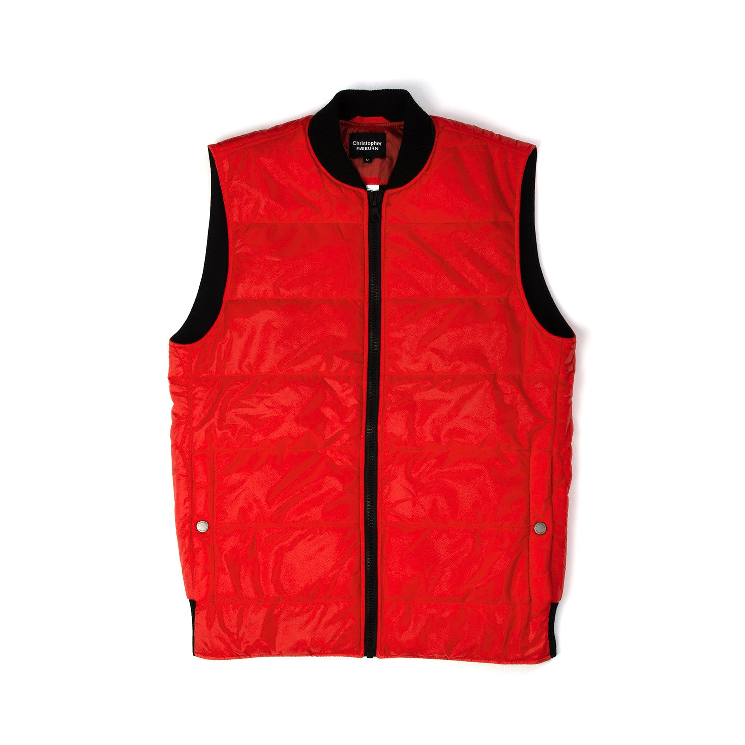 Christopher Raeburn Men's Quilted Gilet Red - Concrete