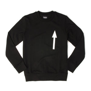 Christopher Raeburn Men's Arrow Crewneck Sweater Black - Concrete