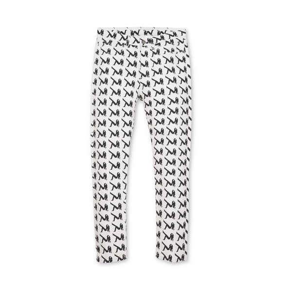 Calvin Klein Jeans Est. 1978 | Narrow AOP Icon Pants White/Black - Concrete