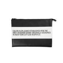 Load image into Gallery viewer, Calvin Klein Jeans Est. 1978 | Leather Pouch Black - Concrete