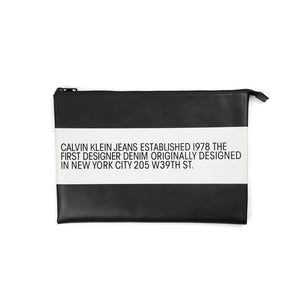 Calvin Klein Jeans Est. 1978 Leather Pouch Black