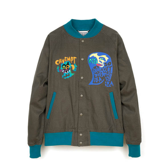 C.E. Cav Empt Cotton Twill Cobra Jacket Navy - Concrete