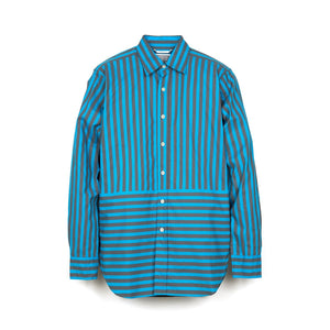 C.E. Cav Empt Striped Shirt Navy - Concrete