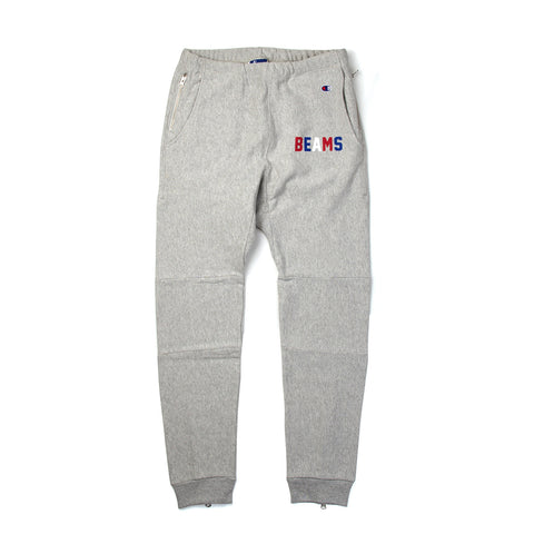 Champion x Beams Elastic Cuff Pants Grey