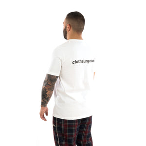 Champion | x Clothsurgeon Double Logo T-Shirt Optic White - Concrete