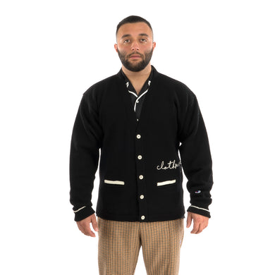 Champion | x Clothsurgeon Script Cardigan Black - Concrete