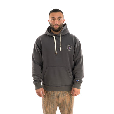 Champion x Clothsurgeon Small Logo Hooded Sweatshirt Dark Grey
