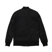 將圖像加載到畫廊查看器中Christopher Raeburn Men's Mesh Zip Front Bomber Black - Concrete