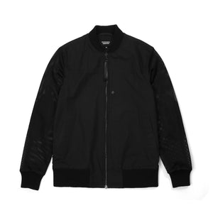 Christopher Raeburn Men's Mesh Zip Front Bomber Black - Concrete